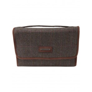 Schoffel Fold Up Toiletry Bag Cavell Tweed