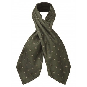 Schoffel Silk Shooting Cravat Dark Olive