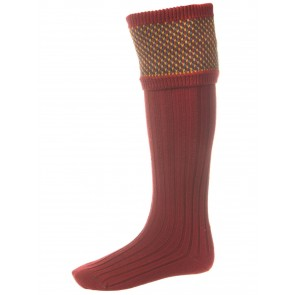 House of Cheviot Tayside Shooting Socks Brick Red