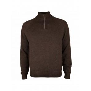 Beretta Techno Windshield Brown Half Zip Sweater