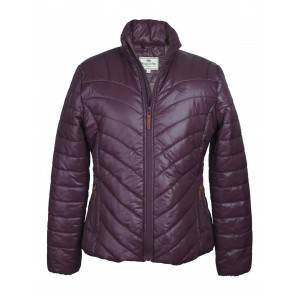 Hoggs of Fife Wilton Padded Jacket Dark Plum