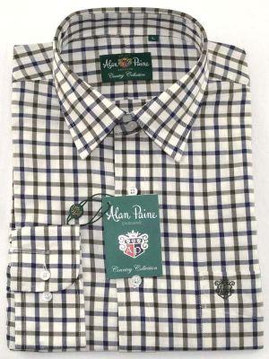 Alan Paine Ilkley Boys Shirt Olive Check