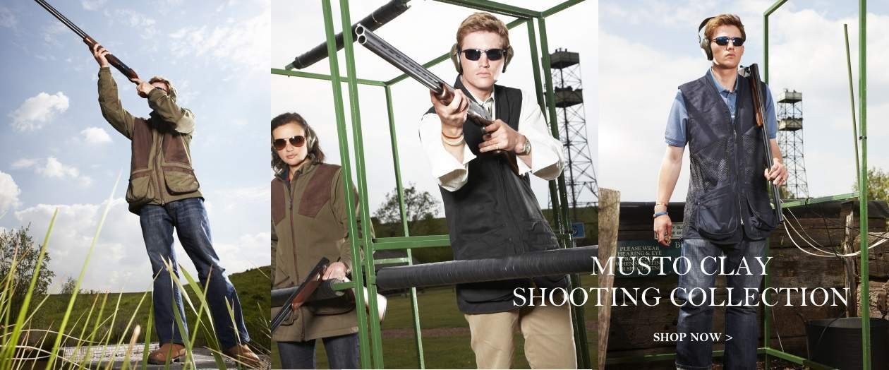 Musto Clay Shooting Collection now in stock