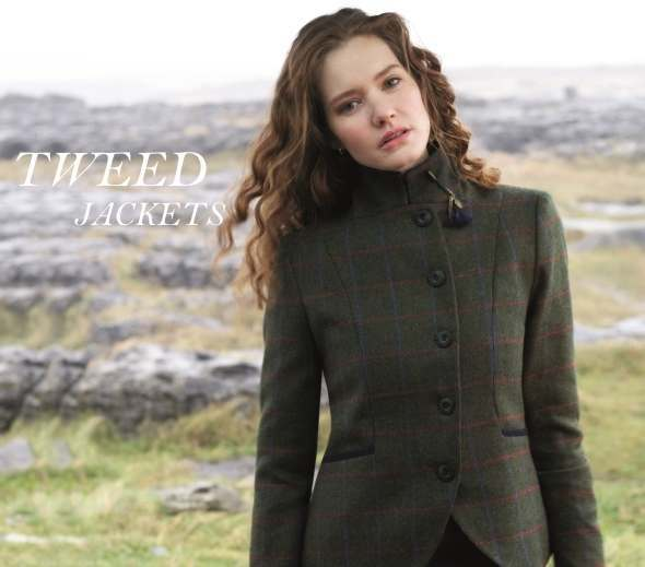 Women's country tweed jackets